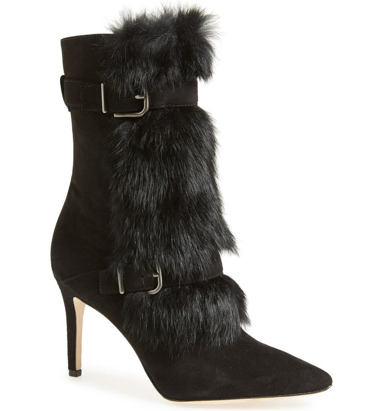 Via Spiga 'Chiaki' Suede & Genuine Rabbit Fur Boot (Women