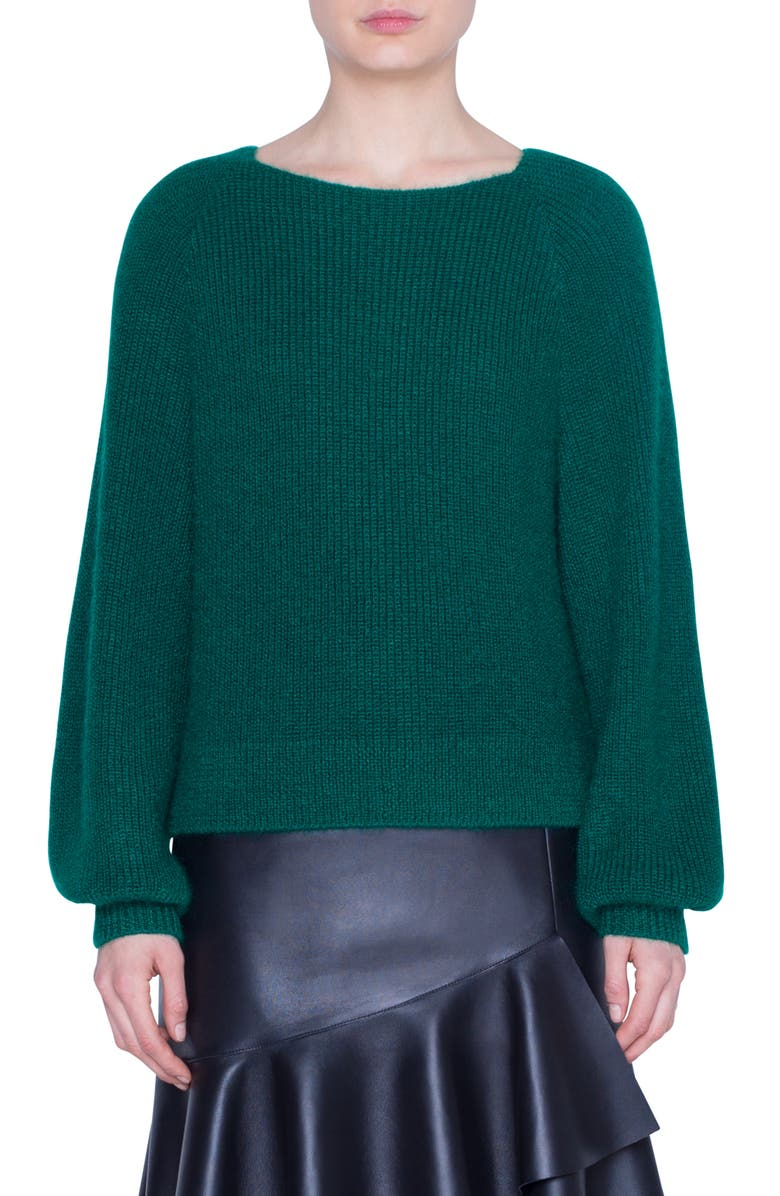 AKRIS PUNTO Alpaca Blend Sweater, Main, color, EMERALD