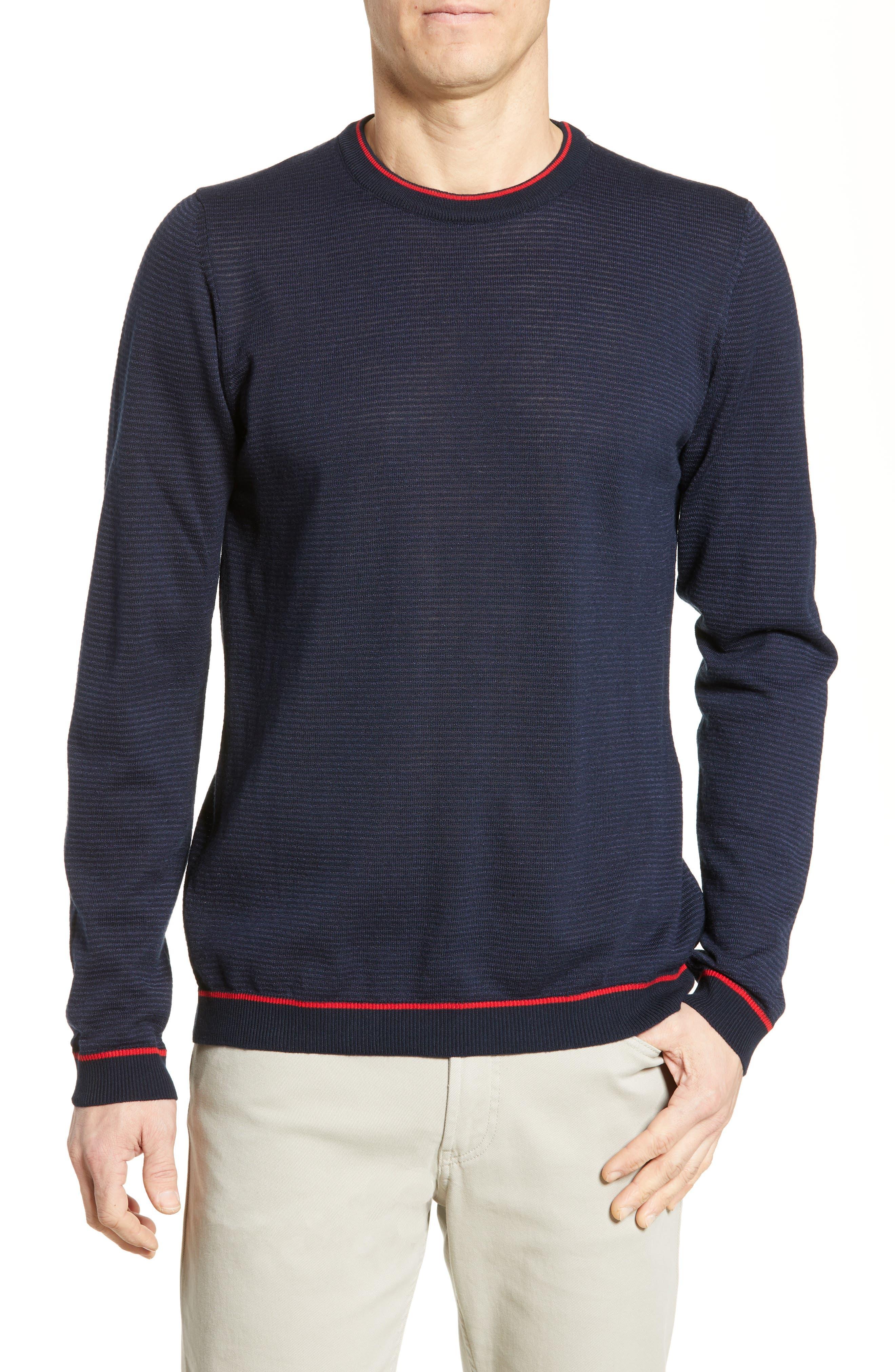 men's bugatchi regular fit ottoman stitch sweater