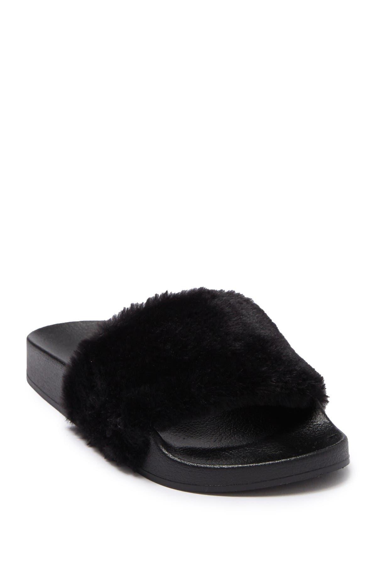 Image of Steve Madden Softey Faux Fur Slide