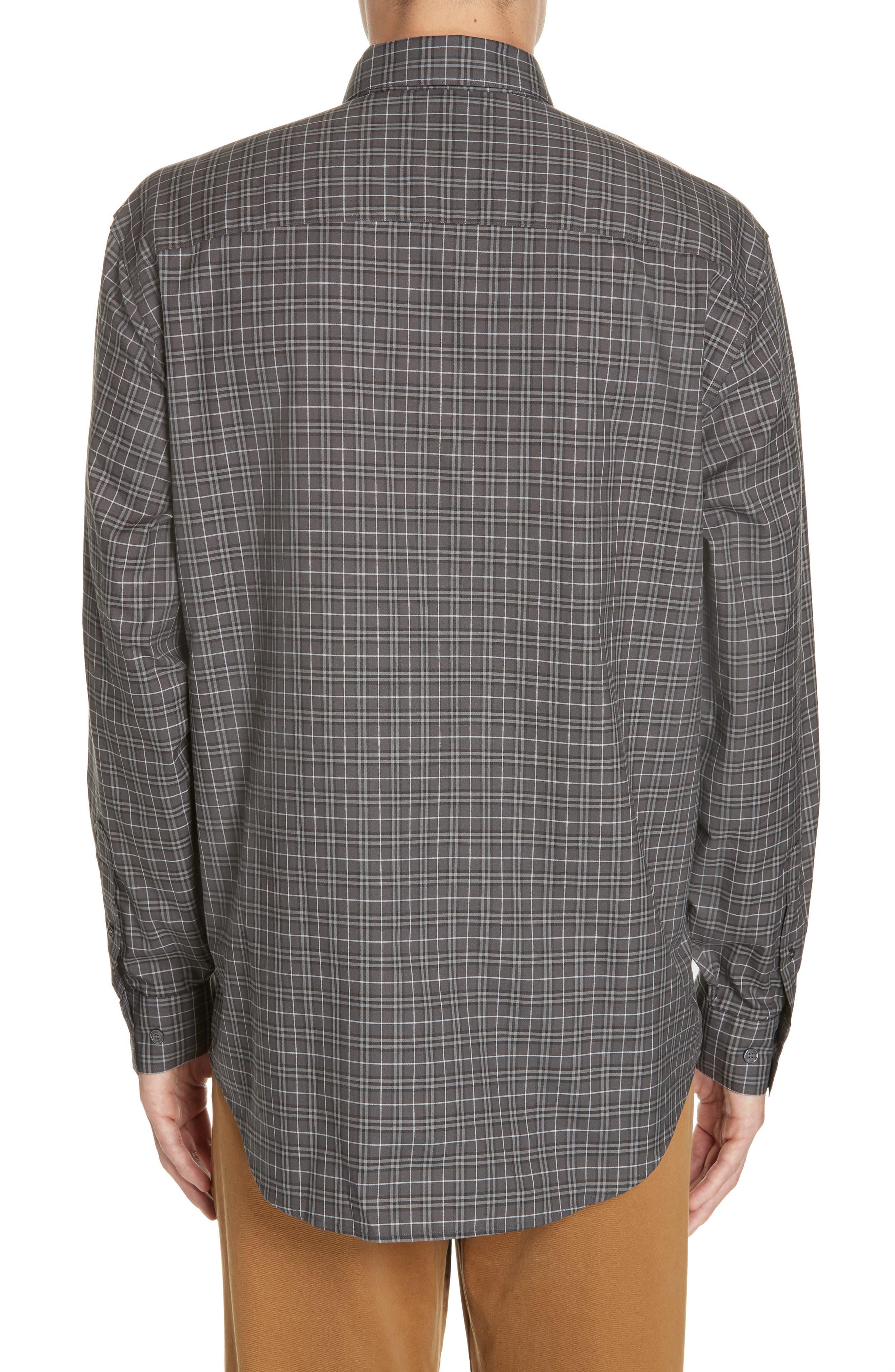 ,                             Jameson Slim Fit Check Sport Shirt,                             Alternate thumbnail 3, color,                             DARK GREY IP CHECK