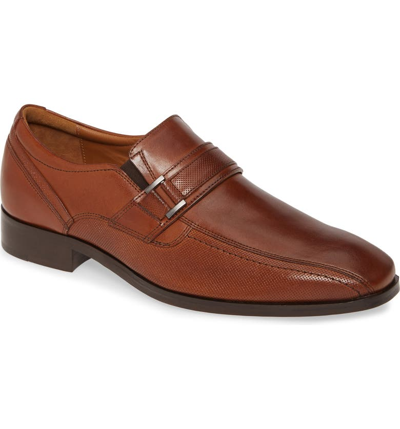 JOHNSTON & MURPHY Domani Bit Loafer, Main, color, TAN LEATHER