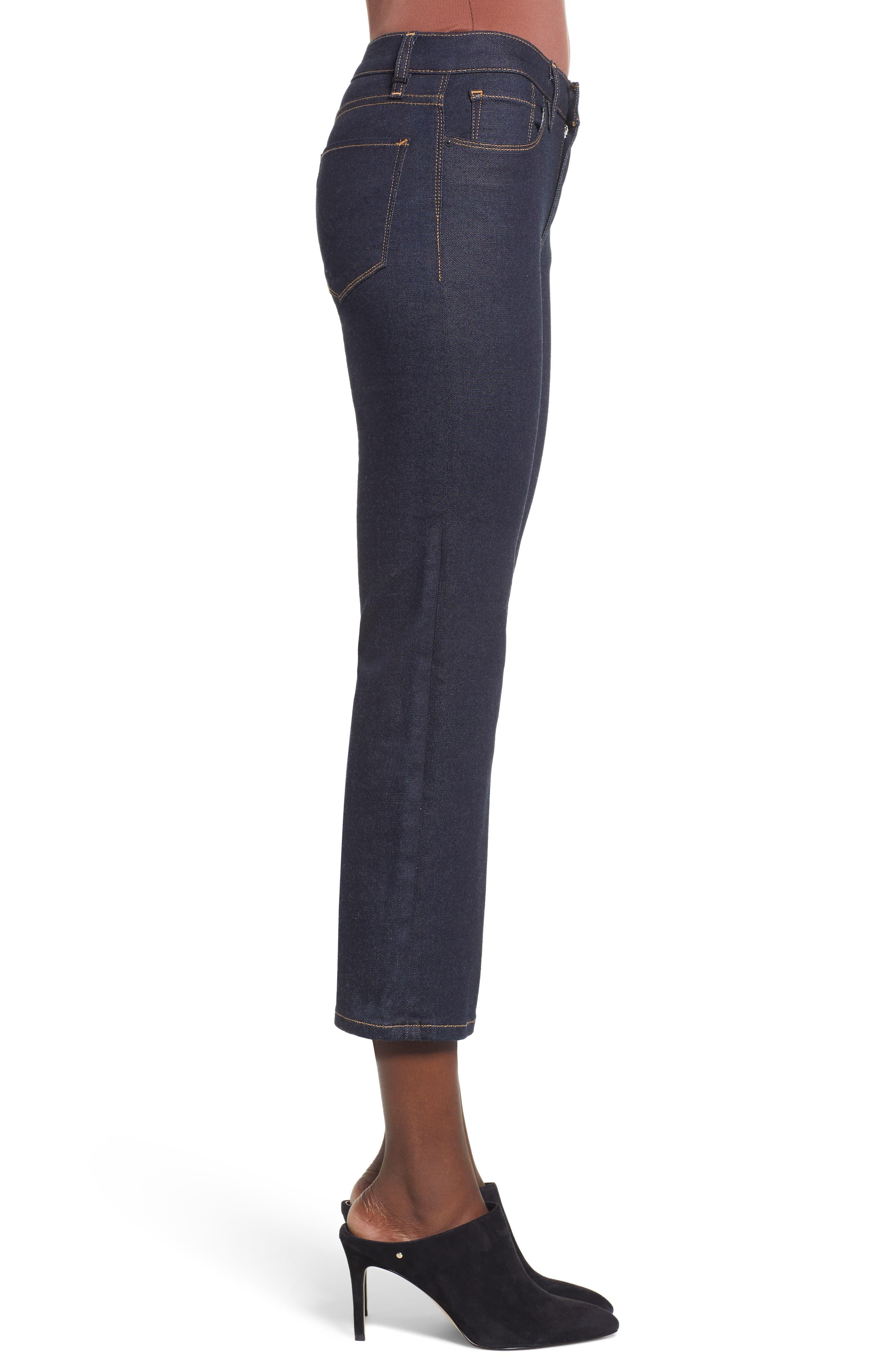 ,                             Stella Crop Straight Leg Jeans,                             Alternate thumbnail 4, color,                             402