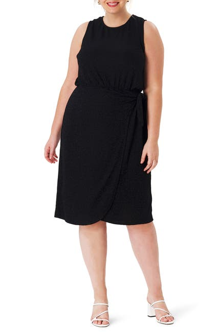Image of Leota Helene Sleeveless Jacquard Dress
