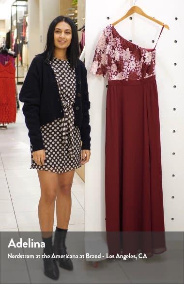 Saffy One-Shoulder A-Line Gown, sales video thumbnail