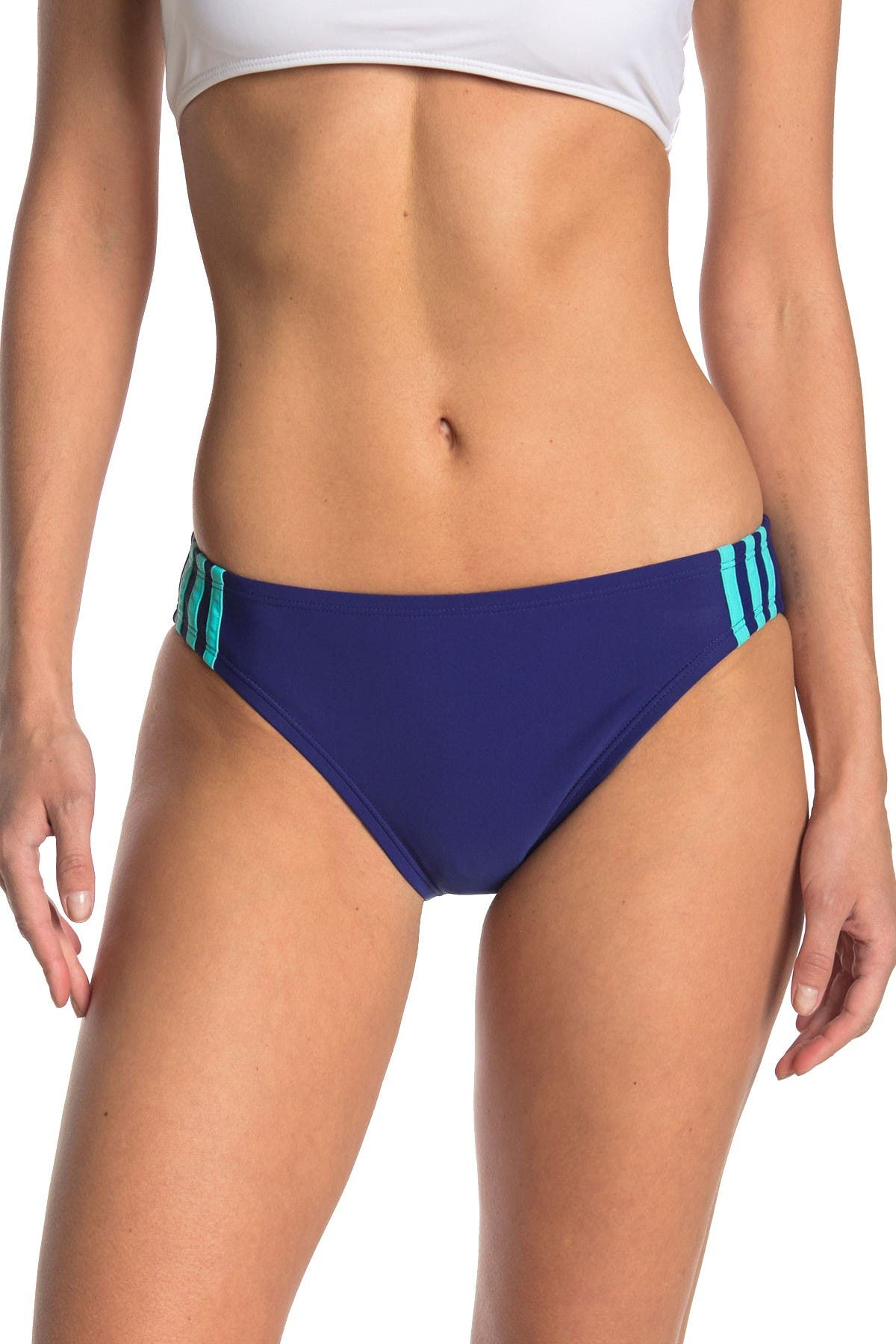 Image of ADIDAS SWIMWEAR Sport 3-Stripes Hipster Bikini Bottoms