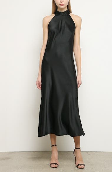 Satin Halter Neck Dress, video thumbnail