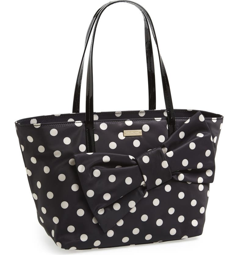 KATE SPADE NEW YORK 'petal drive lyndon' bow tote, Main, color, 002