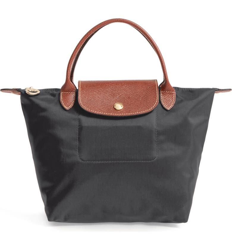 LONGCHAMP Small Le Pliage Top Handle Tote, Main, color, BLACK