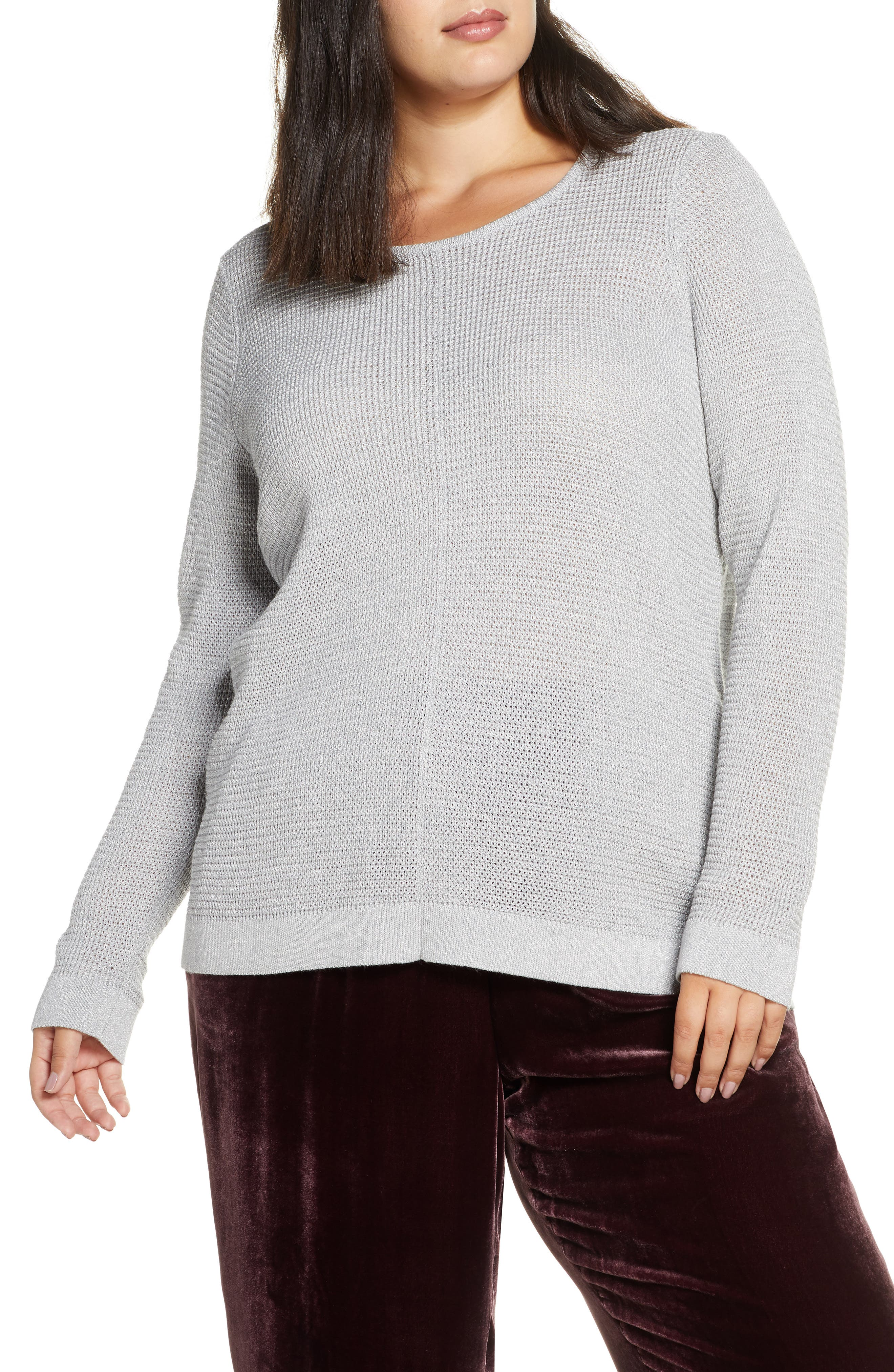 Eileen Fisher Tops Shimmer Merino Wool Blend Top