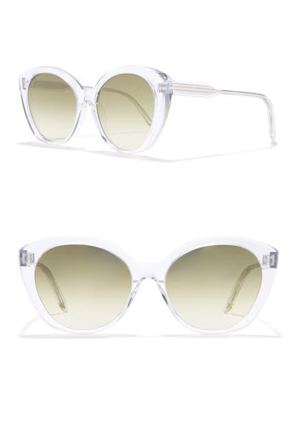 Image of Victoria Beckham 55mm Large Cat Eye Sunglasses