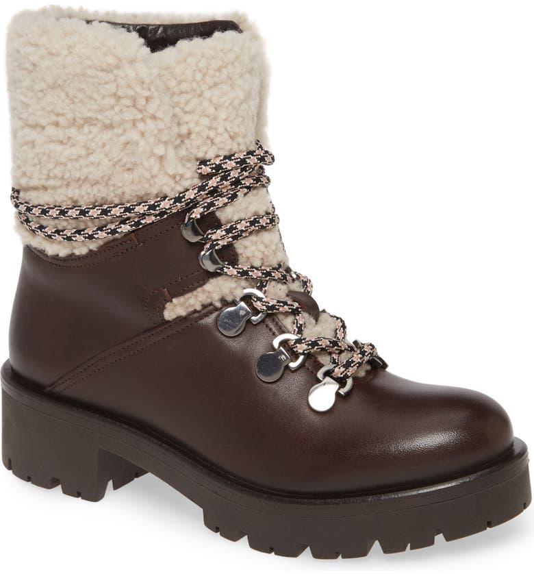 AQUATALIA Jamie Genuine Shearling Trim Weatherproof Hiking Boot, Main, color, 208