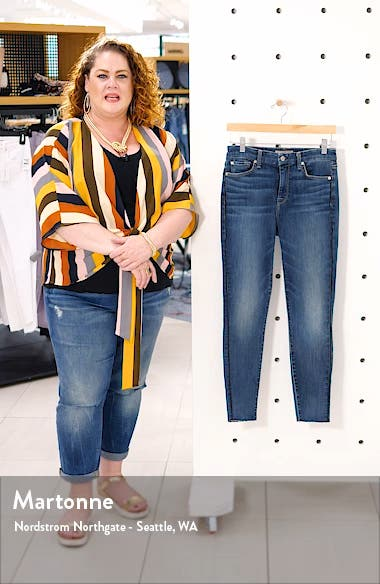 Piped High Waist Ankle Skinny Jeans, sales video thumbnail