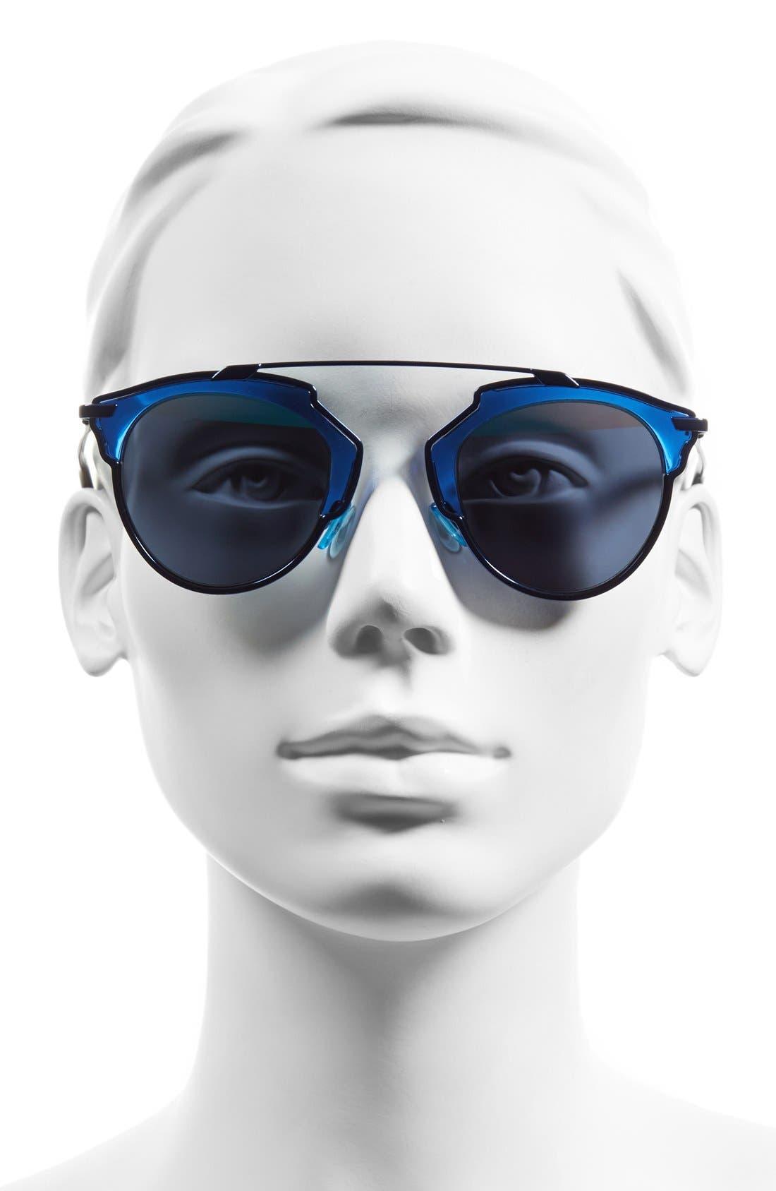 ,                             So Real 48mm Brow Bar Sunglasses,                             Alternate thumbnail 49, color,                             401