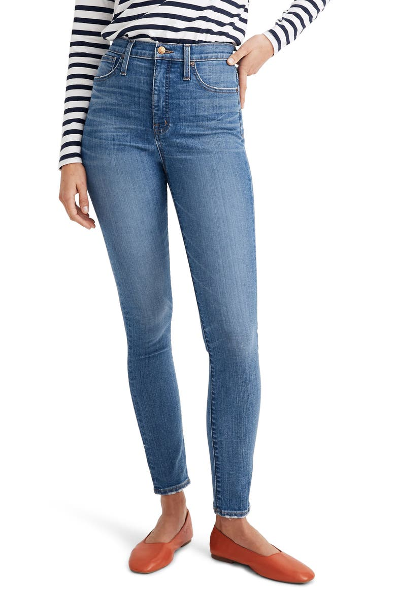 MADEWELL 11-Inch High Rise Skinny Jeans, Main, color, MARICOPA WASH