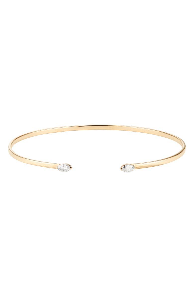 LANA JEWELRY Marquise Echo Diamond Cuff, Main, color, GOLD
