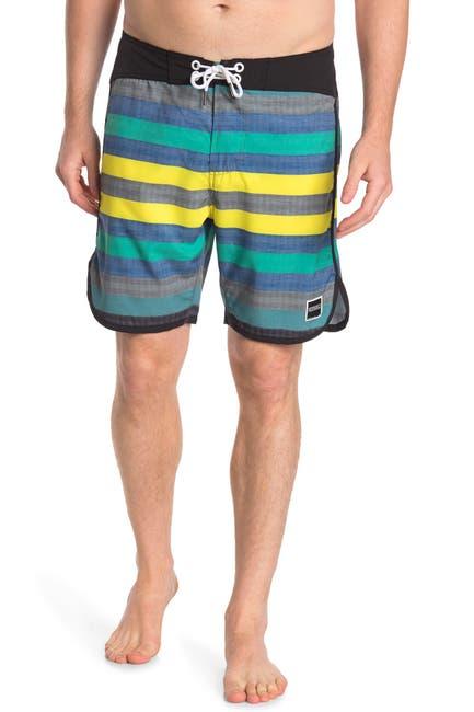 """Image of Ezekiel Dude Striped 18"""" Boardshorts"""