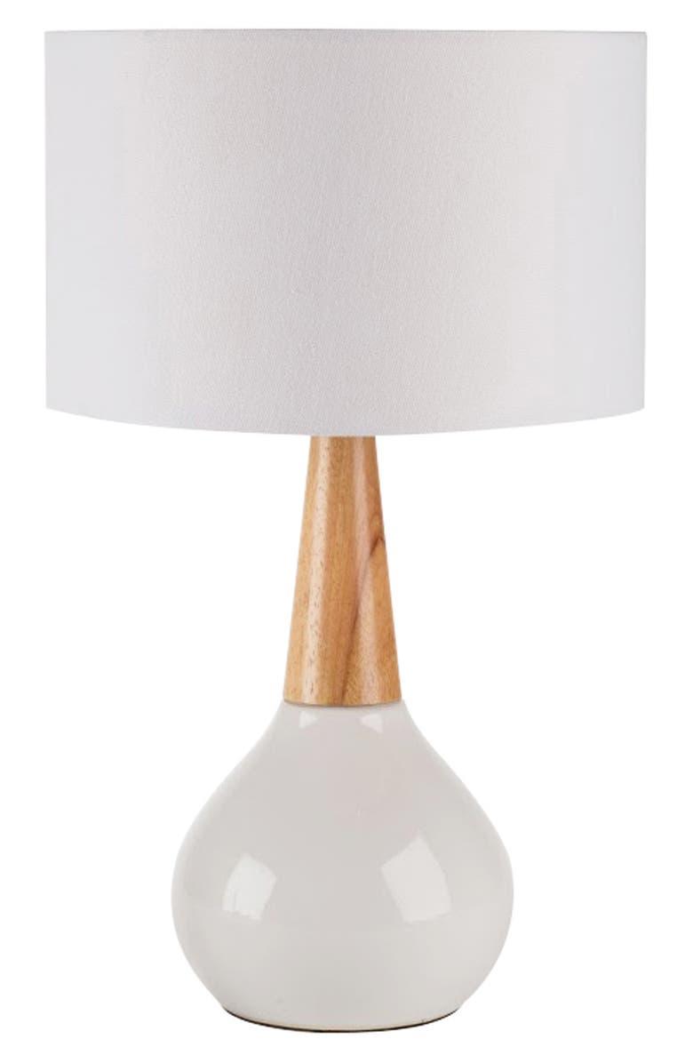 SURYA HOME Kent Table Lamp, Main, color, WHITE