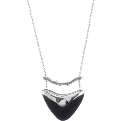 Alexis Bittar Crystal Encrusted Bar & Shield Pendant Necklace