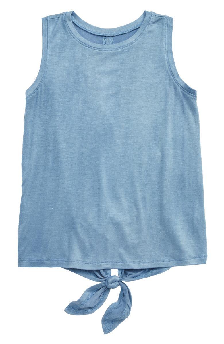 ZELLA GIRL Sassy Tank Top, Main, color, BLUE TOPSAIL