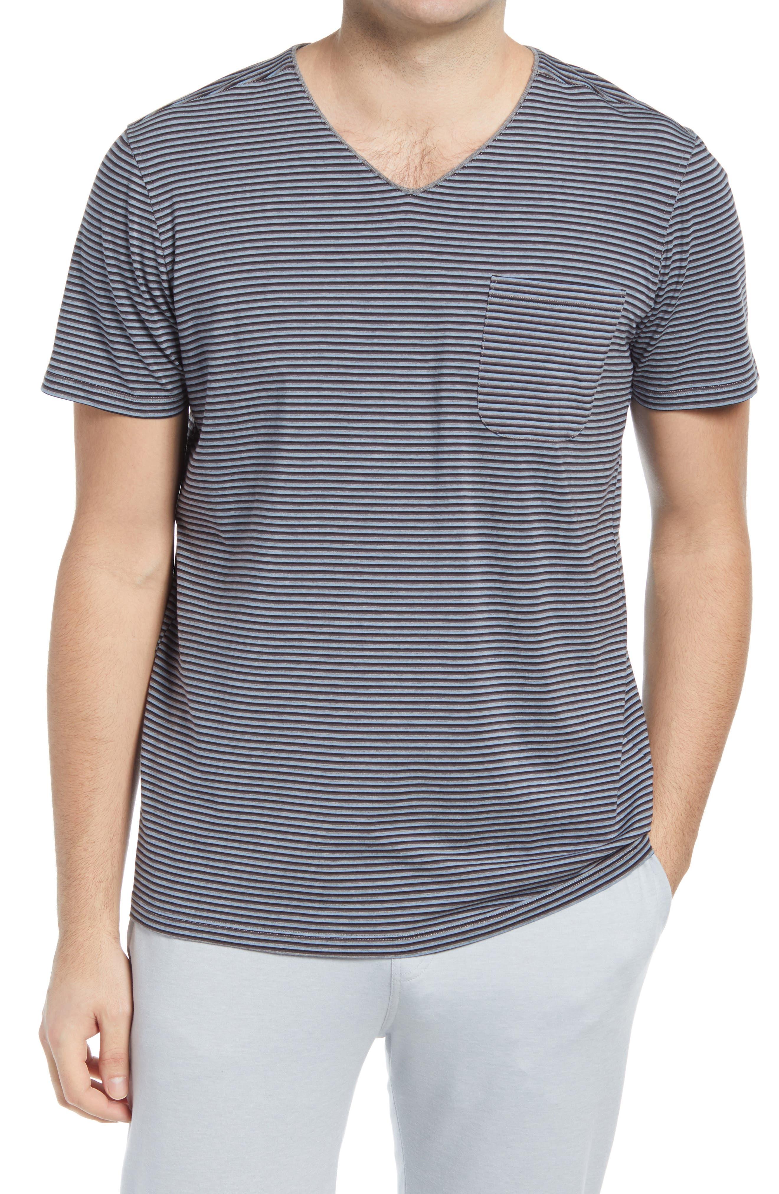 Stripe V-Neck Sleep Shirt