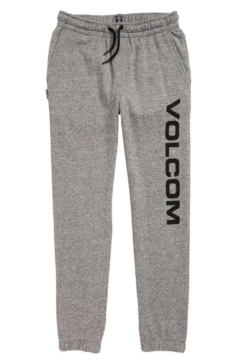 VOLCOM Burbank Fleece Pants, Main, color, GREY