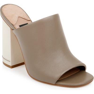 Zac Zac Posen Vivica Block Heel Sandal, Brown