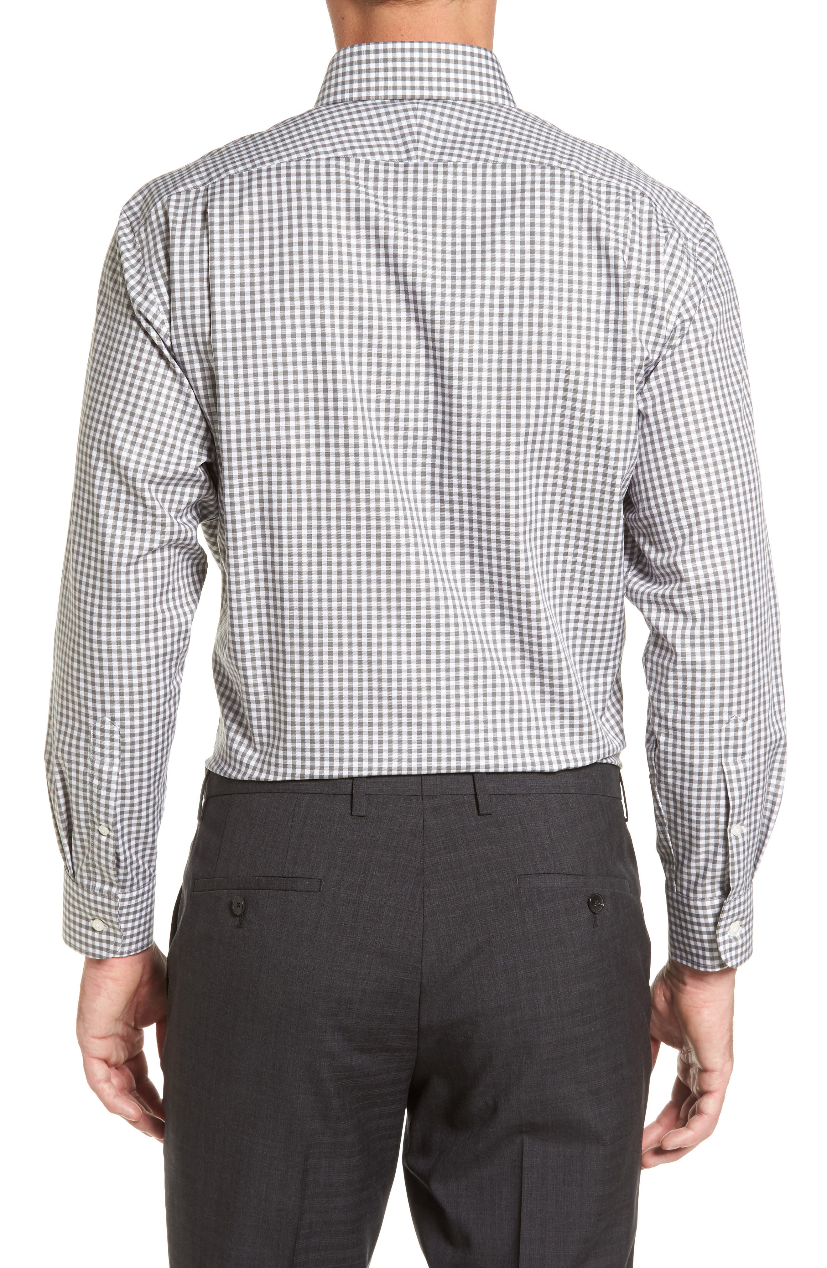 ,                             Traditional Fit Non-Iron Gingham Dress Shirt,                             Alternate thumbnail 6, color,                             030