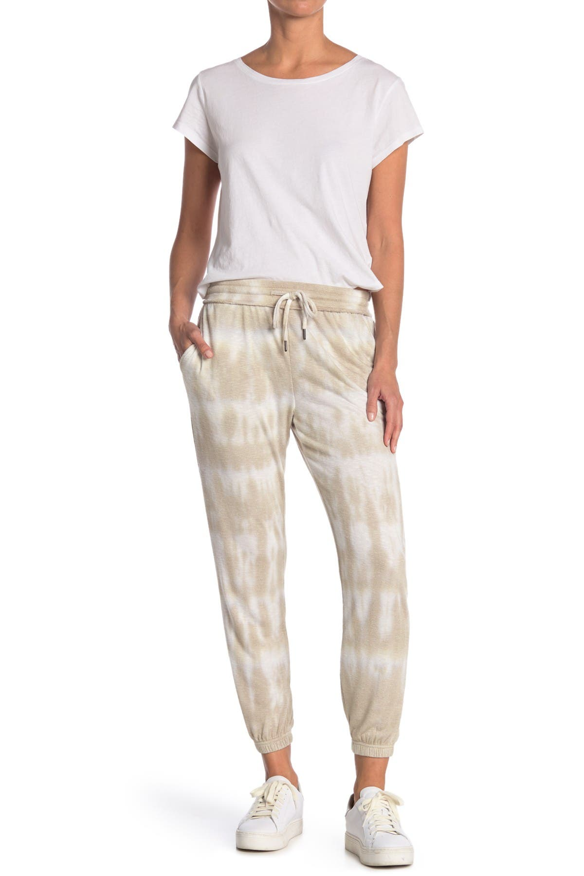 Image of Max Studio Tie Dye Reflection Slub Knit Joggers