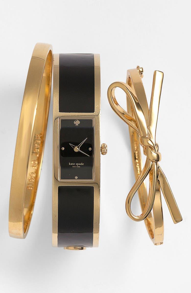KATE SPADE NEW YORK 'carousel' bangle watch, 15mm x 16mm, Main, color, 001