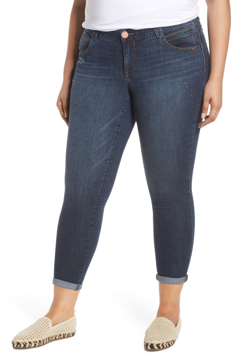 DEMOCRACY Ab-Solution Ankle Skimmer Jeans, Main, color, IN INDIGO