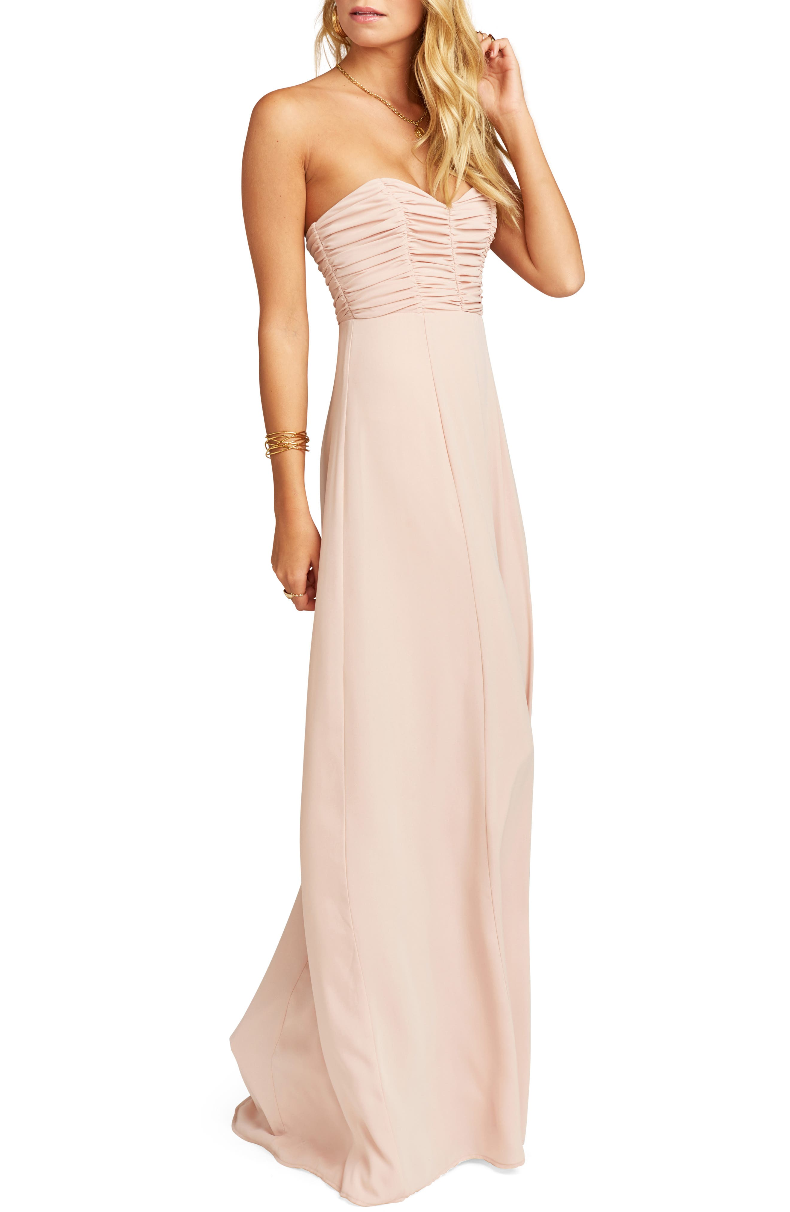 Show Me Your Mumu Bonbon Optional Strap Gown, Pink