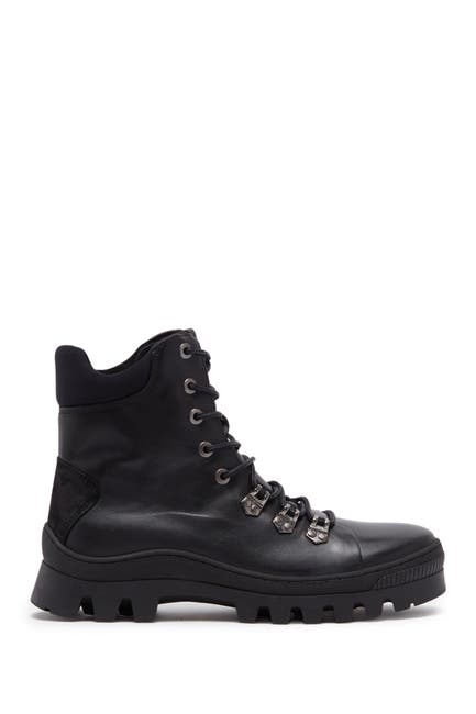 Image of Karl Lagerfeld Paris Leather Lug Sole Combat Boot