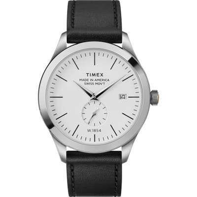 Timex American Documentation Leather Strap Watch, 41mm