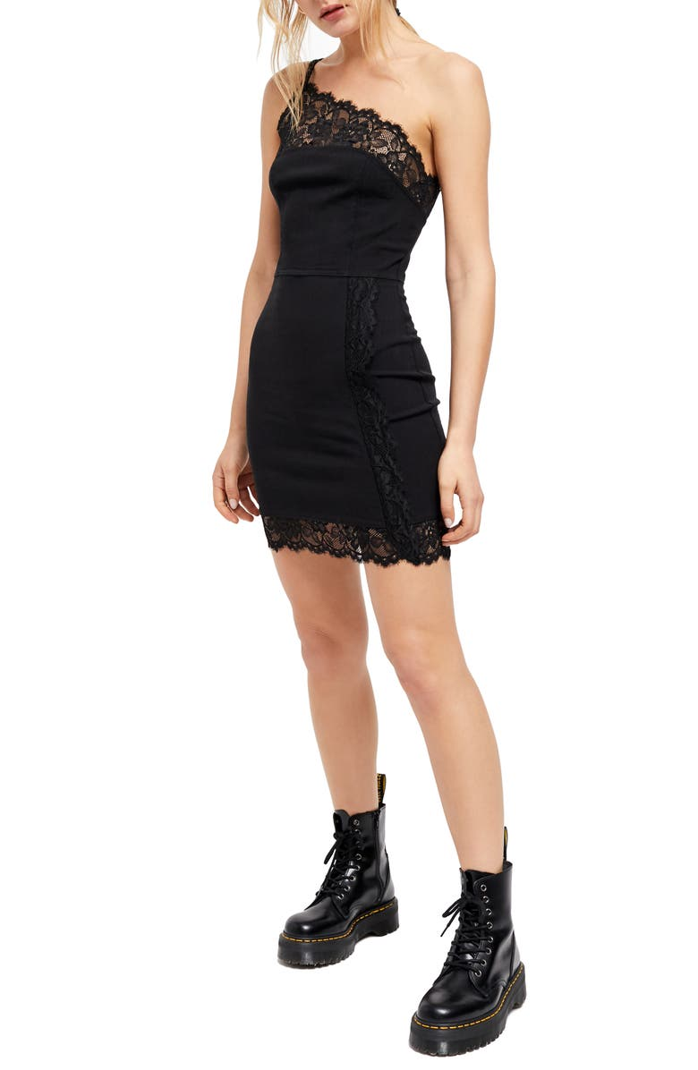 FREE PEOPLE Premonitions Body-Con Dress, Main, color, BLACK