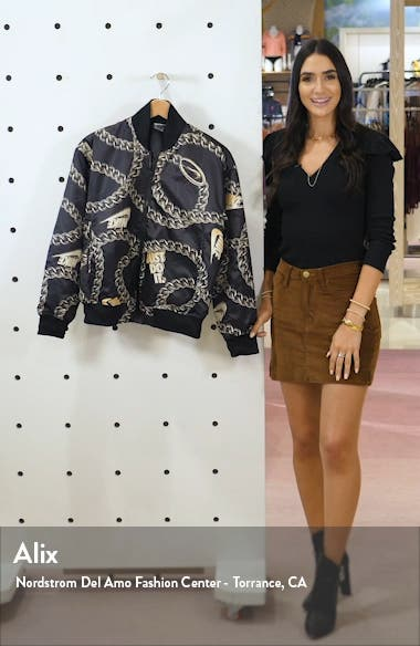 Sportswear Icon Clash Chain Print Synthetic Fill Jacket, sales video thumbnail