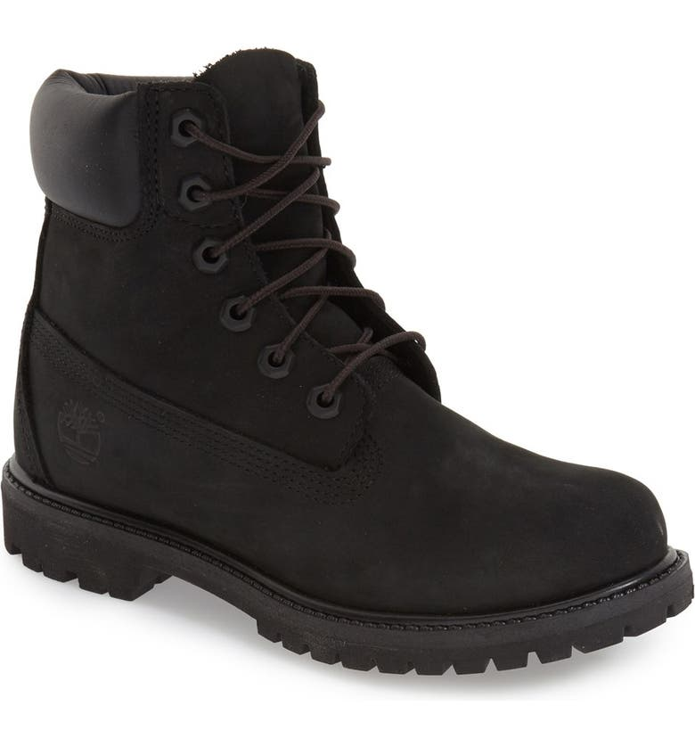 TIMBERLAND 6-Inch Premium Waterproof Boot, Main, color, BLACK NUBUCK LEATHER