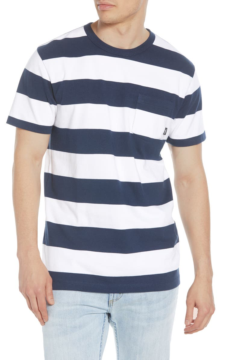 VANS Anaheim Issue Stripe Pocket T-Shirt, Main, color, 100