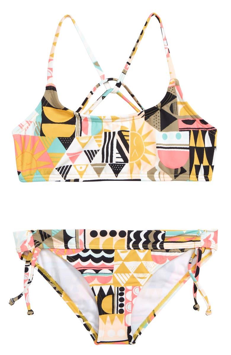 BILLABONG Mod Love Tali Two-Piece Swimsuit, Main, color, 001