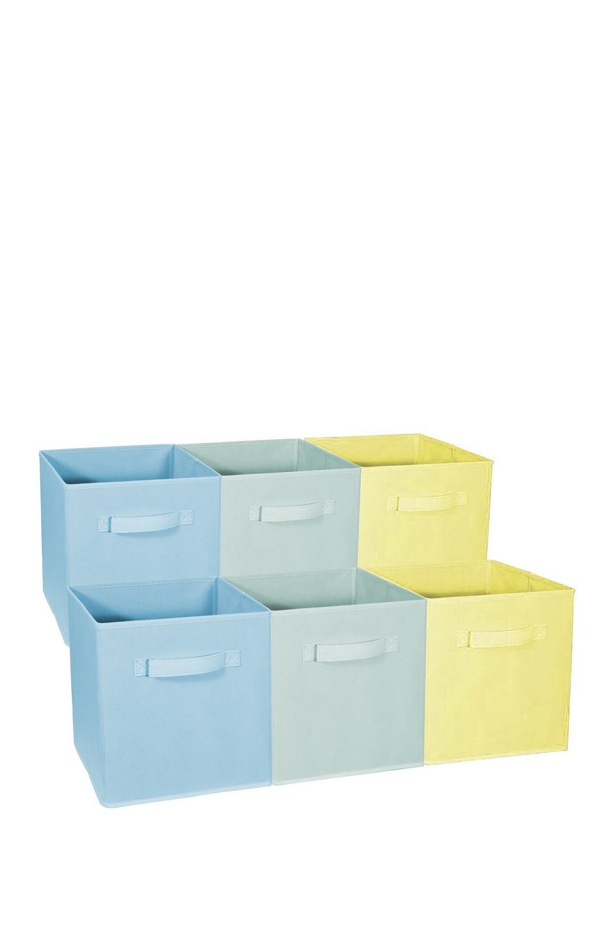 Image of Sorbus Home Storage Bundle Pastel Drawer & Closet Bins - Set of 6
