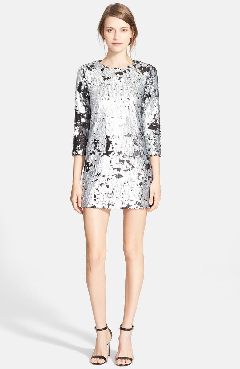 ELIZABETH AND JAMES 'Danya' Sequin Minidress, Main, color, 020