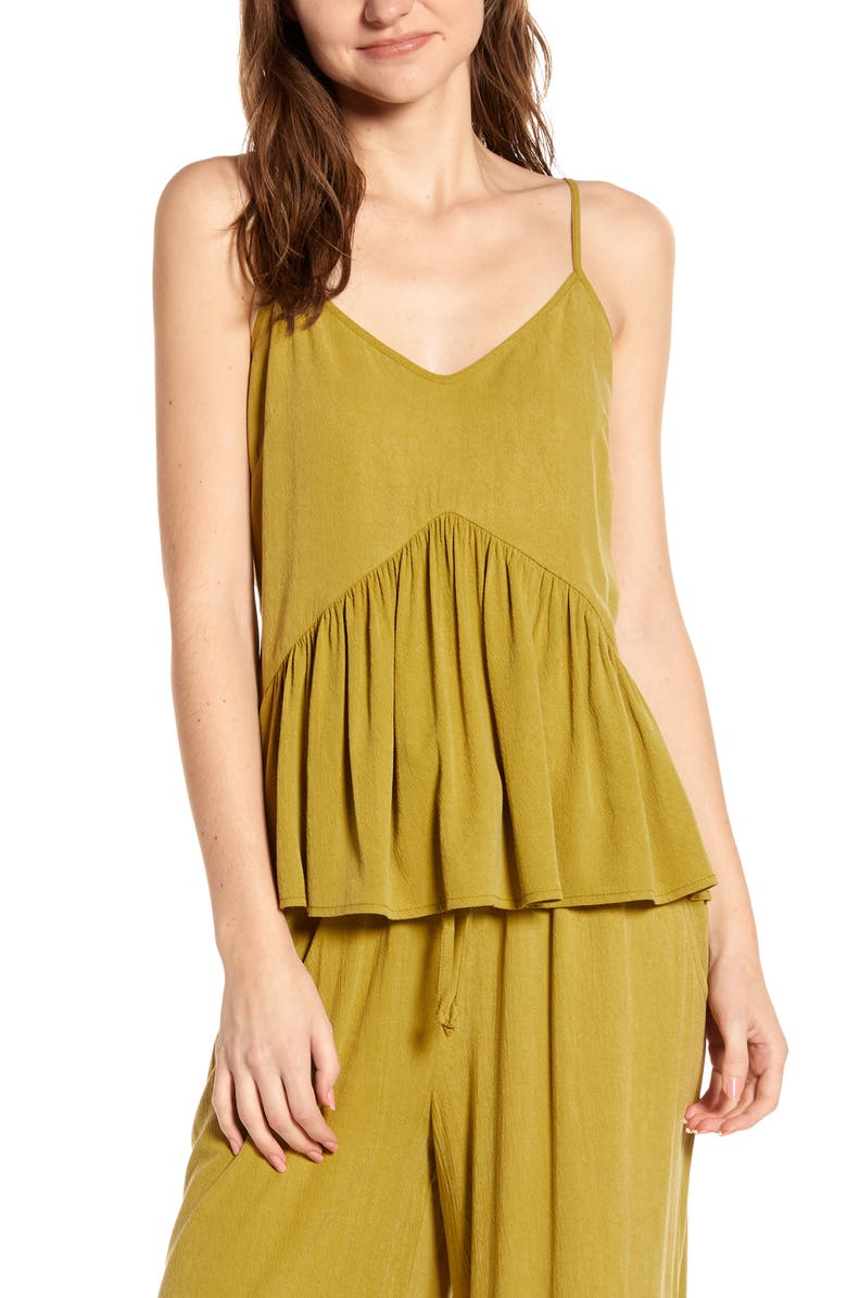 THE ODELLS Annis Cutout Back Camisole, Main, color, CACTUS