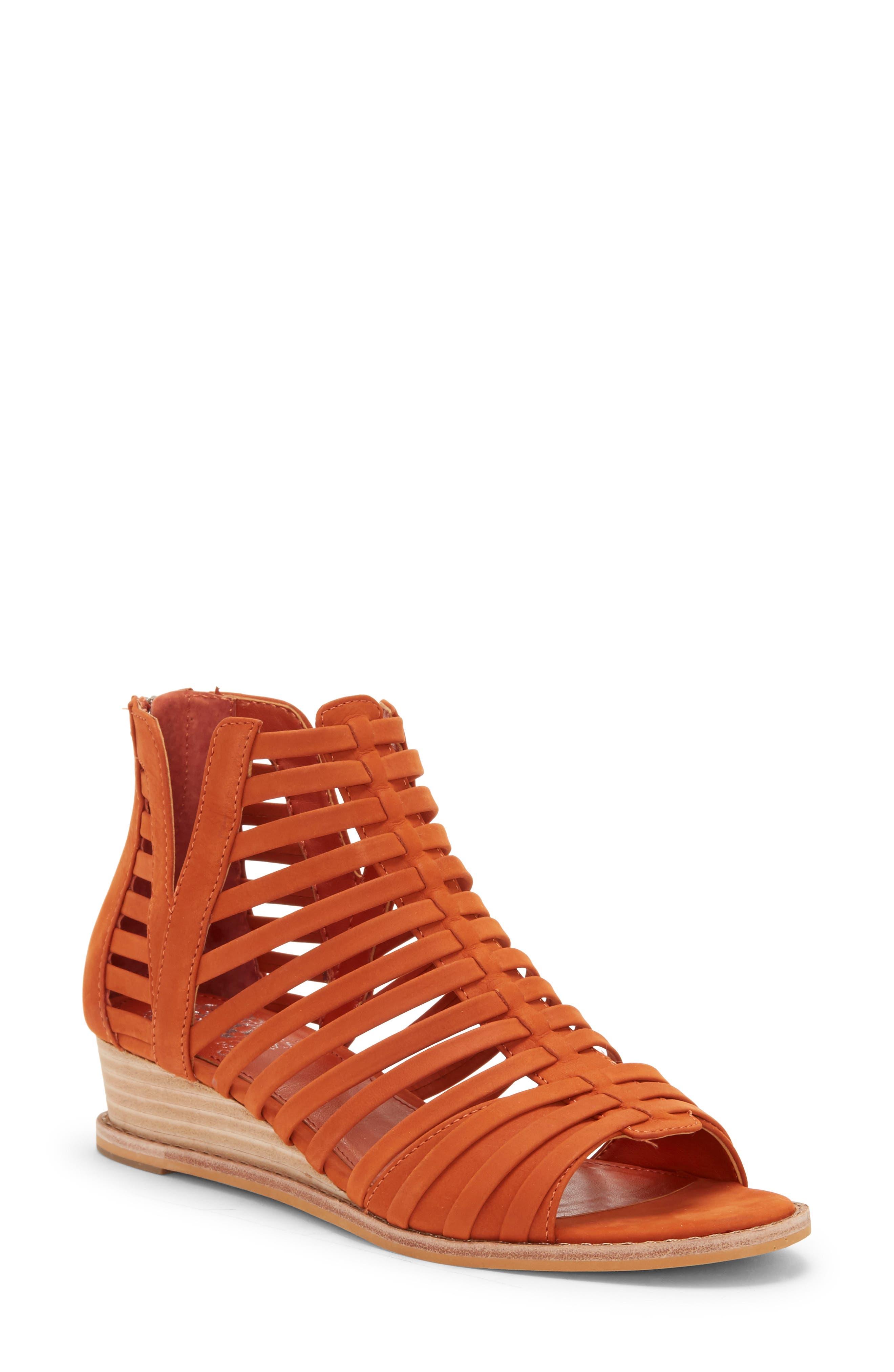 Vince Camuto Revey Wedge Sandal- Orange