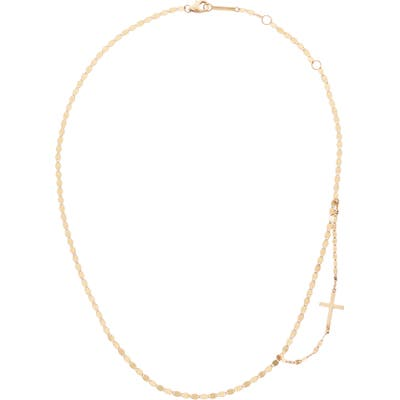 Lana Jewelry Double Strand Side Cross Necklace