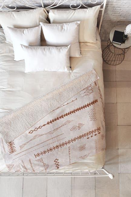 "Image of Deny Designs Dash and Ash Blank Slate Fleece Throw Blanket - 60"" x 50"""