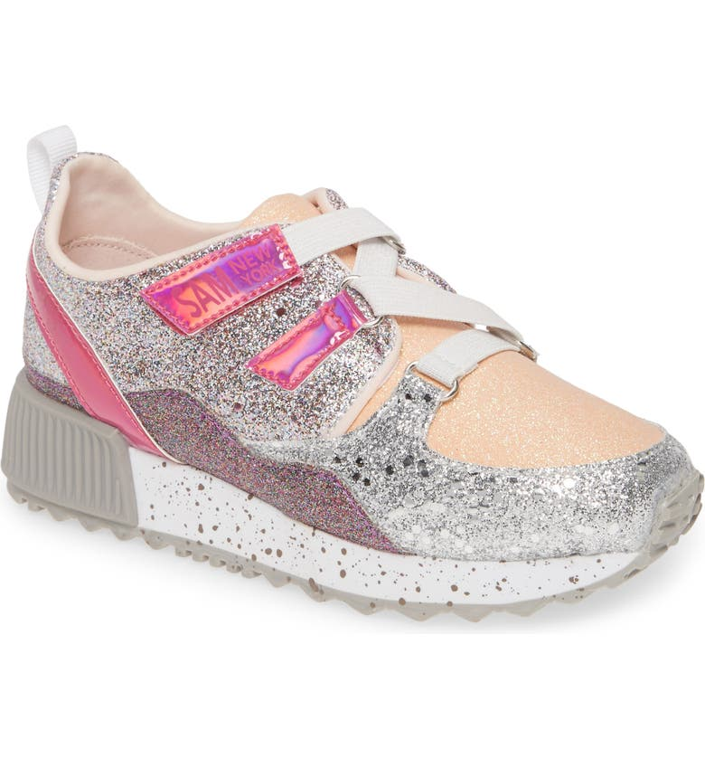 SAM EDELMAN Stacey Melody Sneaker, Main, color, PURPLE PINK SILVER