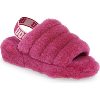 Ugg Fluff Yeah Genuine Shearling Slipper, Pink