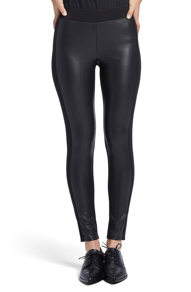 NIC+ZOE Half & Half Skinny Pants, Main, color, BLACK ONYX