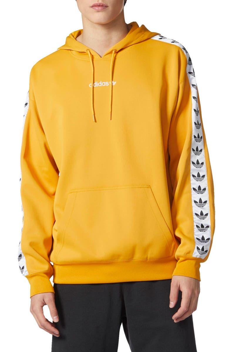Men'S Adidas Originals Tnt Logo Tape Pullover Hoodie, Size X Large White