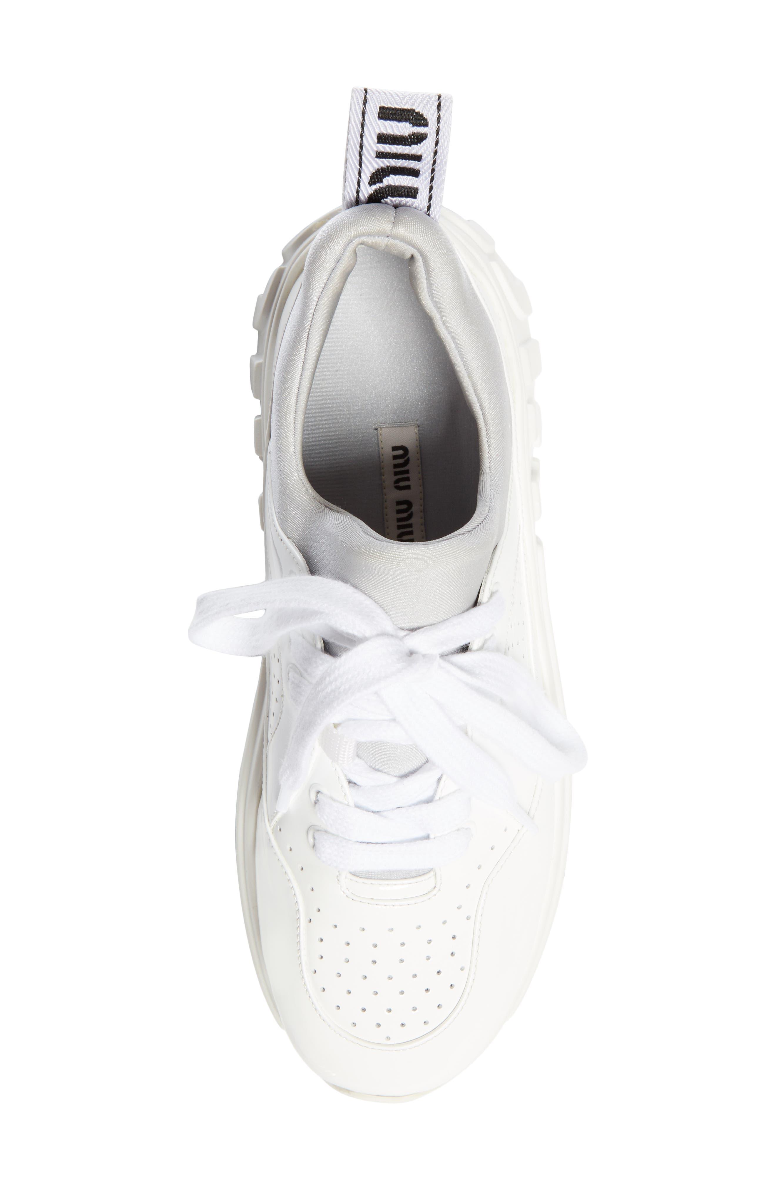 ,                             Logo Sole Sneaker,                             Alternate thumbnail 5, color,                             WHITE